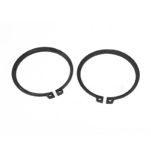 2 Pcs 67mm x 77mm Round Shaped Metal External Snap Retaining Rings