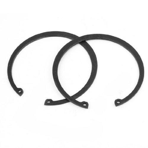 uxcell 2 Pcs 2mm Thickness Metal Circle Internal Snap Retaining Rings