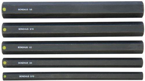 Bondhus 33645 516 - 58-Inch 6-Inch ProHold Socket Bits without Sockets Set of 5