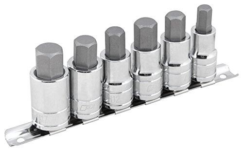 Performance Tool W38886 6 Piece 12 Drive Large Hex Bit Socket Set 38 12  916 12mm 14mm 17mm