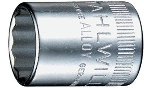 Stahlwille 40D-13 Steel Bi Hexagon Socket 14 Drive 12 Points 13mm Diameter 23mm Length 178mm Width