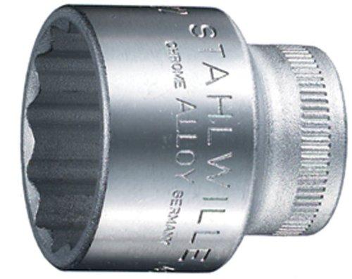 Stahlwille 45-21 Steel Bi-Hexagon Socket 38 Drive 12 Points 21mm Diameter 34mm Length 277mm Width