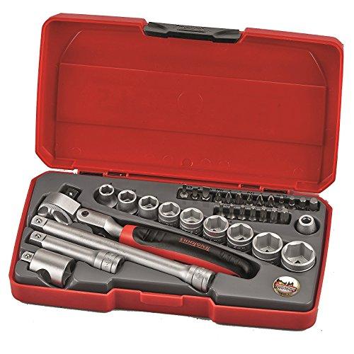 Teng Tools T3834S - 34 Piece 38 inch Drive Flex Head Ratchet Socket Set