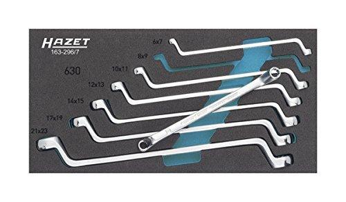 HAZET 163-2967 12-Point Profile Double Box-End Wrench Set - Multi-Colour by Hazet