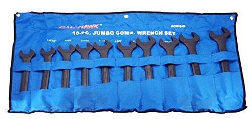 10-pc Jumbo Combination Wrench Set SAE 1-516 - 2