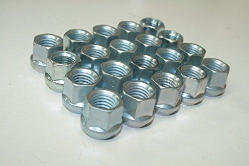 T6 PREMIUM CHROME BULGE ACORN 14X15 LUG NUTS 34 HEX SET OF 20
