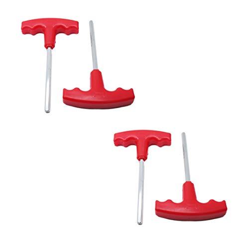 LDEXIN 4pcs H6 6mm Hexagon Tip Shaft Hex Key T-Handle Metric T Shape Handle Allen Wrench Spanner Tool Red155cm61 Long