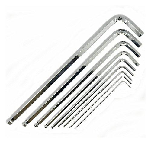 Daixers 9PCS Long Arm Ball End Hex Key Wrench Set Metric