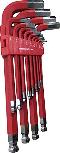 Industro SAE Large Long Arm Hex Key Wrench Set