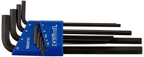 EKLIND 10609 Hex-L Key allen wrench - 9pc set Metric MM sizes 15-10 Long series