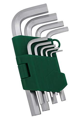 Hex Key Set Kattool 9-Piece Hex Key Wrench Set Short Arm Metric Hex L-key Set Chrome Vanadium Steel Hex Key Set 15mm---10mm 006---039