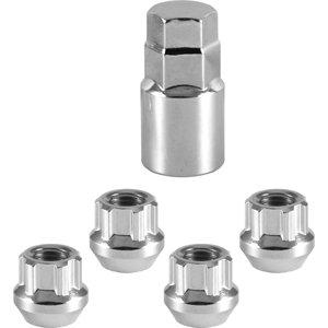 4 12x175 Chrome Open Acorn Locking Lug NutsWheel Locks M12x175  Socket Key