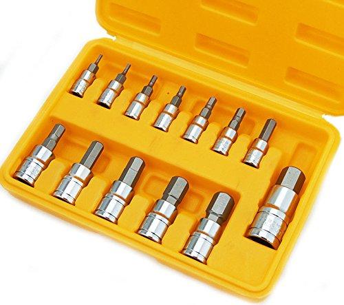 13 Pc Mm Metric Hex Allen Wrench Bit Socket Tool Wcase Chrome Vanadium Hd