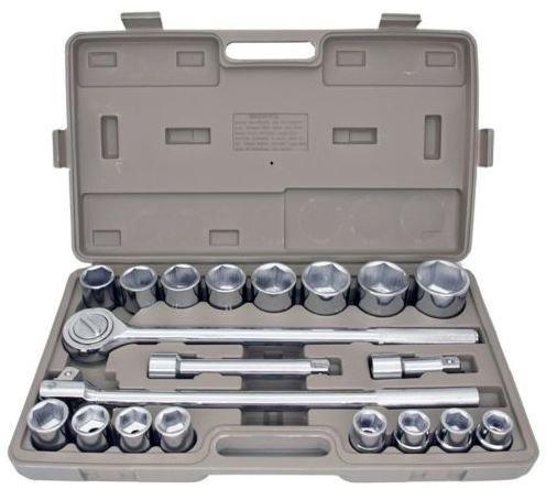 "Produit Royal 21pcs 34"" Drive Socket Tool Set Metric with Storage Case Jumbo Ratchet Wrench Extension New"