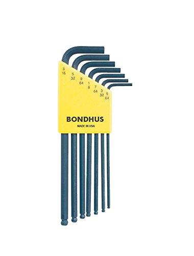 Bondhus 10945 Set of 7 Balldriver« L-wrenches sizes 564-316-Inch