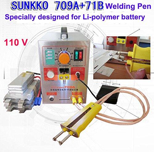 1900W 110V Pulse Battery Spot Welder 709A Soldering Iron Station 71B Welding Pen for 18650 16430 14500 battery Li-Polyer pack