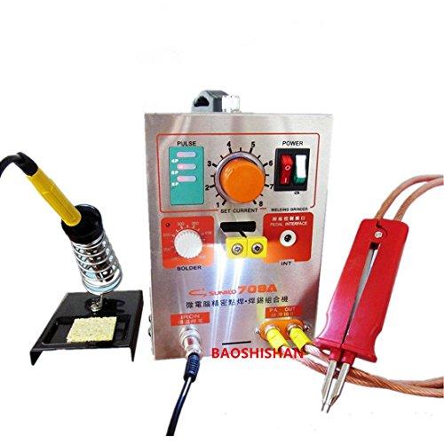 Boshi Electronic Instrument 709A LED Pulse Battery Spot Welder Spot Welding Machine 110V220V Supply Voltage for 18650 16430 14500 battery pack