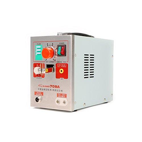 SUNKKO 709A Pulse Spot Welder Battery Welding Soldering Machine 60A 19KW for 18650 16430 14500 battery pack