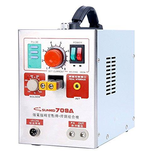 YaeCCC 709A 110V 2 in 1 19kw Pulse Spot Welder Battery Welding Soldering Machine 60A