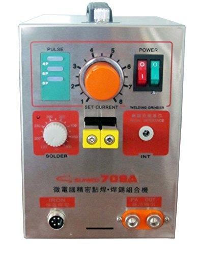 Hanchen Instrument19kw LED Pulse Battery Spot Welder 709A with Soldering Iron Station Spot Welding Machine 18650 16430 14500 battery 110V