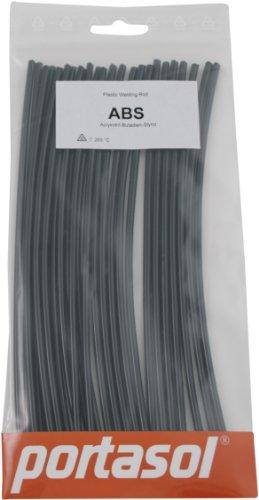 Portasol ABS Black 8-Inch Plastic Welding Rod Pack of 25