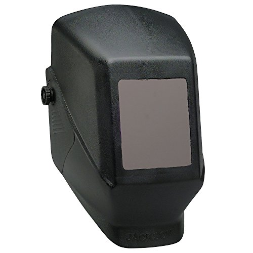 Jackson Safety 14975 W10 HSL 100 Black Passive Welding Helmet 5-14 Length x 4-12 Width Pack of 4
