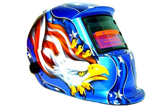 GHP Auto Darkening Helmet Star Stripes Eagle Design for Mig Arc Tig WeldingGrinding
