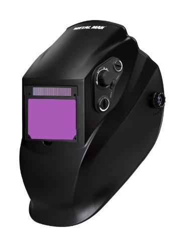 Metal Man AB8730SGC Dual Range 5-13 Variable Shade Professional Auto-Darkening Welding Helmet BlackGray