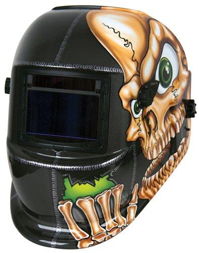 Nesco Tools 4653 Skull Graphics Auto Darkening Solar Powered Welding Helmet