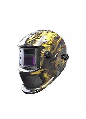 Professional Grade Welding HelmetHood Auto Darkening Argon Arc welding TIGTIG Pulsing MIG MAG Electrode Plasma cutting and Grinding Yellow and Black