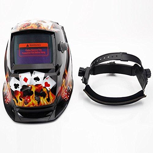 Teekland Welding Helmet Solar Powered Auto Darkening Helmet Safety MasksBlack Gambler