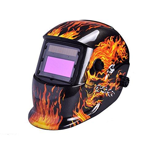 Usexport Solar Powered Auto Darkening Welding Helmet Grinding Welder Mask Skull Arc Tig Mig Adjustable Mask