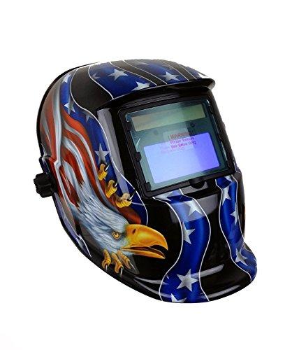 Instapark ADF Series GX-500S Solar Powered Auto Darkening Welding Helmet with Adjustable Shade Range 9 - 13 American Eagle