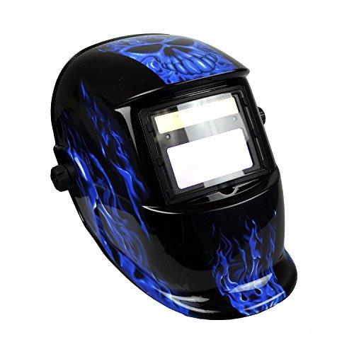 Instapark ADF Series GX-500S Solar Powered Auto Darkening Welding Helmet with Adjustable Shade Range 9 - 13 Blue