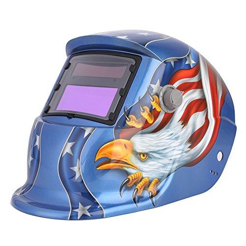 Walfront Welding Helmet Solar Powered Auto Darkening Professional Hood Mask with Adjustable Shade Range 9~13 Face Protector