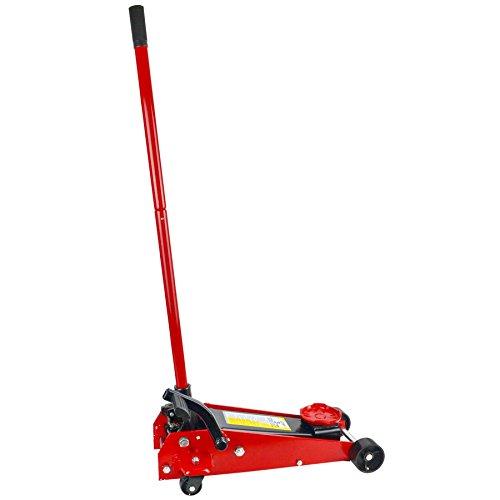 3 Ton Hydraulic Trolley Floor Jack with Fast Lift Pedal Car Van Vehicle TE728