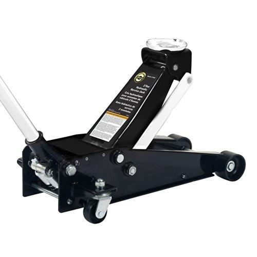 Omega 21022 Black Hydraulic Service Jack - 2 Ton Capacity