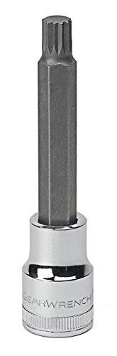 GearWrench 80869 12 Drive Long Triple Square Bit Metric Socket 10mm Black