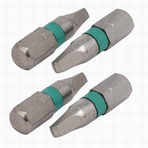 MariaP 4 Pcs 14-inch Hex Shank 25mm Length 3mm Magnetic Tip Square Screwdriver Bit