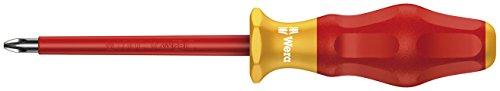 Wera 05031613001 Kraftform Comfort VDE 1165i Pozidriv Insulated Screwdriver PZ 2 Head 100mm Blade Length