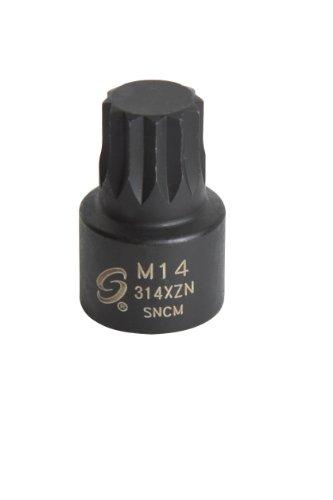 Sunex 314XZN 38-Inch Drive M14 Stubby Triple Square Impact Socket
