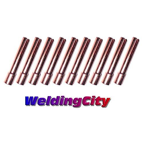 WeldingCity 10-pk Collet 13N23 332 for TIG Welding Torch 9 20 and 25 Series in Lincoln Miller ESAB Weldcraft CK Everlast