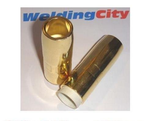 WeldingCity 5 Gas Nozzles 4391 58 Brass for Bernard QS 200-300A MIG Welding Guns