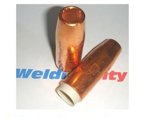 WeldingCity 5 Gas Nozzles 4394 12 Copper for Bernard QS 200-300A MIG Welding Guns