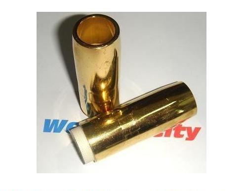 WeldingCity 5 Gas Nozzles 4491 34 Brass for Bernard QS 400-600A MIG Welding Guns