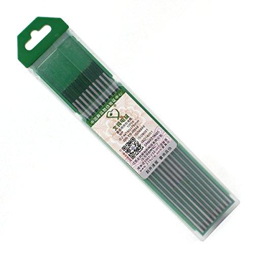 WP20 TIG Welding Pure Tungsten Electrode 332 x 6 24 x 150mm Green Rod