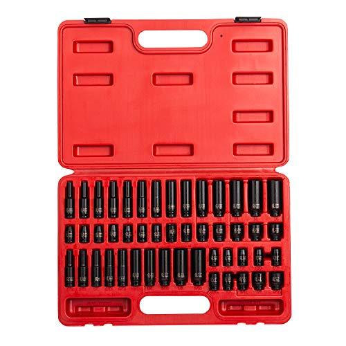 Sunex 1848 14 Inch Drive Master Impact Socket Set 48-Piece SAEMetric 316 Inch - 916 Inch 4mm - 15mm StandardDeep Cr-Mo Alloy Steel Radius Corner Design Heavy Duty Storage Case