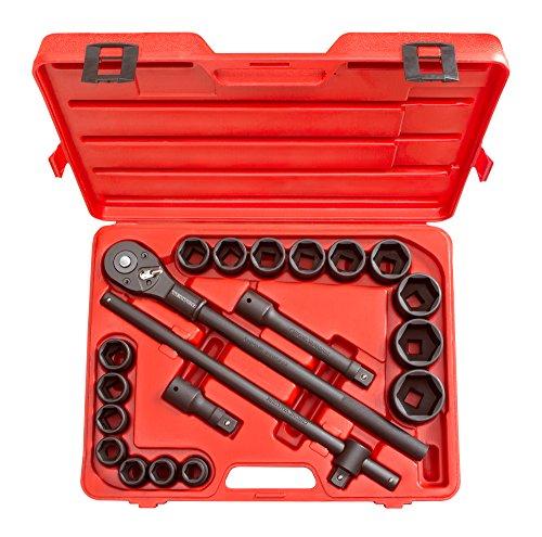 TEKTON 34-Inch Drive Impact Socket Set Inch Cr-V 6-Point 34-Inch - 2-Inch 21-Piece  4899
