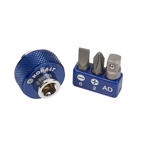 Kobalt 337335 4-Piece 14-Inch Drive Magnetic Finger Bit Driver Set