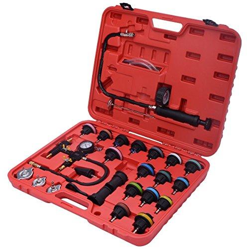 Goplus 27PCS Radiator Pressure Tester Vacuum Type Cooling System Purge and Refill Kit W Case